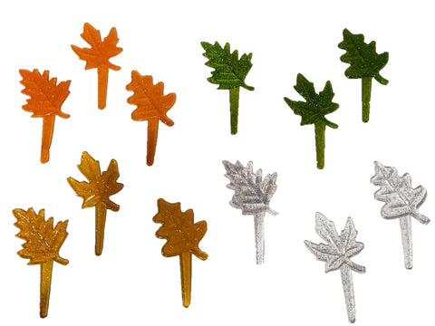 12ct. Fall Leaves Cake Picks