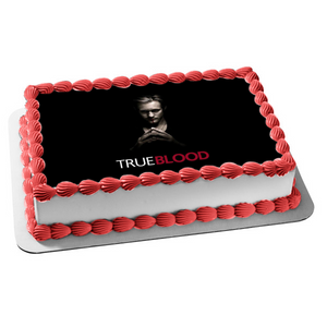 True Blood Eric Northman Vampire Black Background Edible Cake Topper Image ABPID26998
