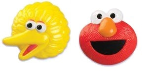 14ct. Elmo and Big Bird Cake Rings