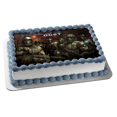 Halo 3 ODST Marine Orbital Drop Shock Troopers Edible Cake Topper Image ABPID24333