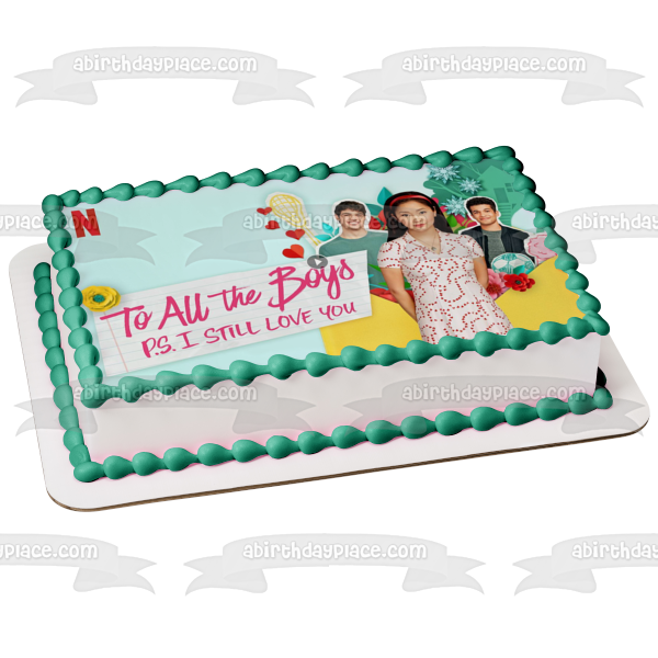 To All the Boys P.S. I Still Love You Lara Jean Peter John Ambrose Edible Cake Topper Image ABPID51196
