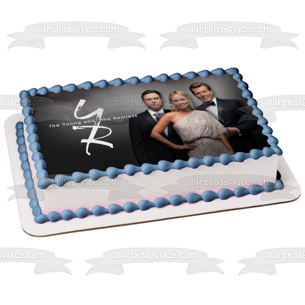 The Young and the Restless Jack Abbott Nicholas Newman Sharon Newman Edible Cake Topper Image ABPID51266