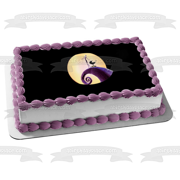 Nightmare Before Christmas Jack Skellington Baby Carriage Edible Cake Topper Image ABPID07202
