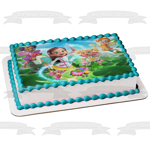 Butterbean's Cafe Butterbean Poppy Dazzle Cricket Fairies Puddlebrook Edible Cake Topper Image ABPID50937