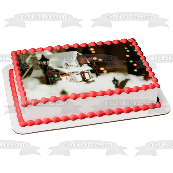 Merry Christmas Santa/'s Workshop cake topper edible icing or Wafer