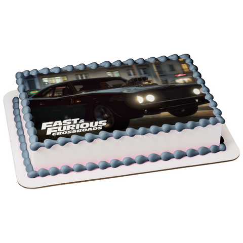 Fast and Furious Crossroads Dominic Toretto Race Car Edible Cake Topper Image ABPID51958