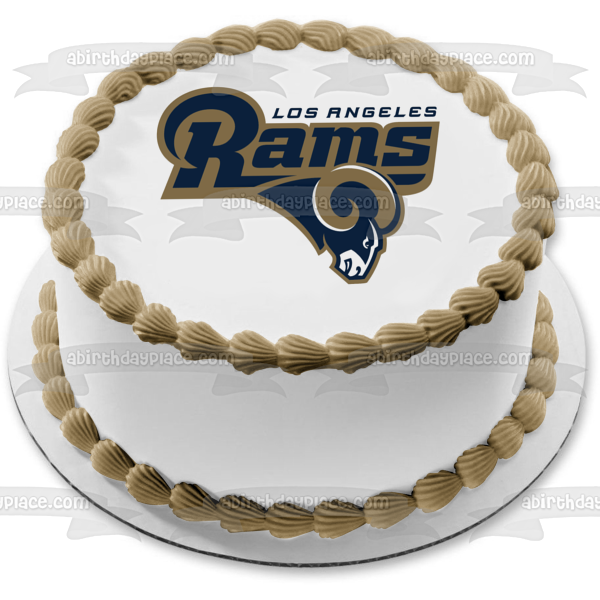 Los Angeles Rams Logo NFL Professional American Football Edible Cake Topper Image ABPID06429