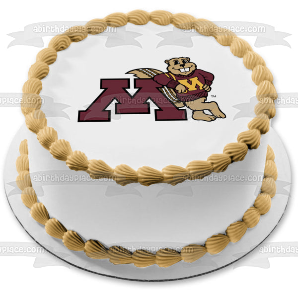 University Of Minnesota Gophers Logo Edible Cake Topper Image ABPID09870