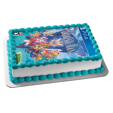 Trials of Mana Angela Duran Hawkeye Riesz Kevin Charlotte Video Game Cover Edible Cake Topper Image ABPID51922