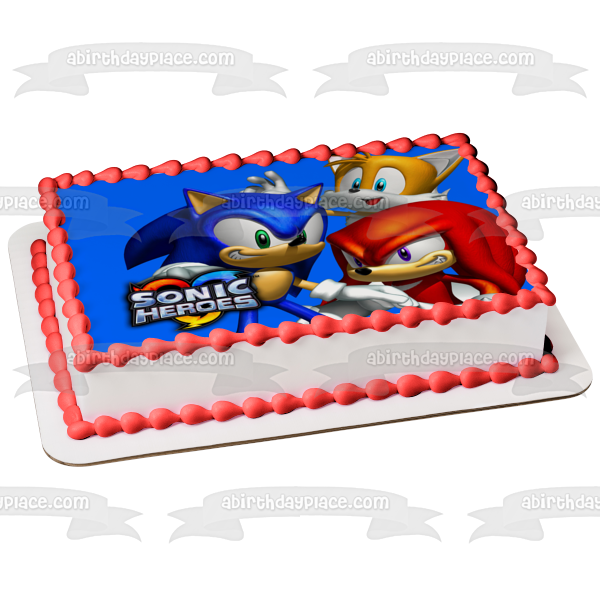 Sonic Heroes Sonic the Hedgehog Tails Knuckles Edible Cake Topper Image ABPID00054