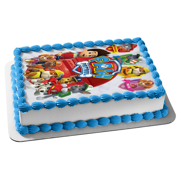 Paw Patrol Marshall Rocky Rubble Skye Edible Cake Topper Image ABPID00060