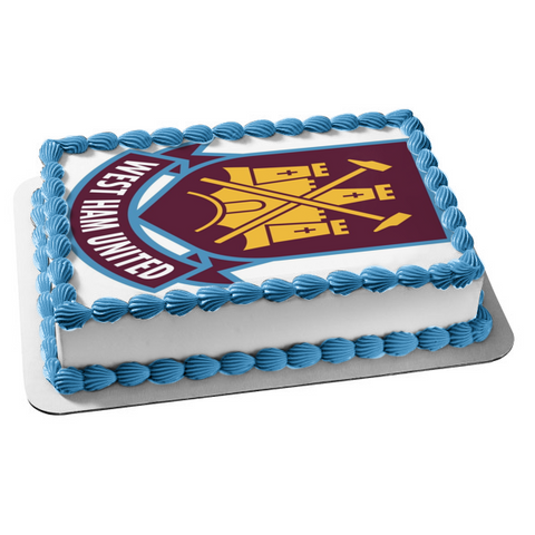 West Ham United Football Club Edible Cake Topper Image ABPID00123