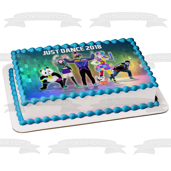 Just Dance 2018 Assorted Characters Thumbs the Way I Are Sugar Dance Edible Cake Topper Image ABPID00244