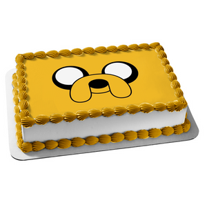 Adventure Time with Finn and Jake Jake Face Edible Cake Topper Image ABPID00094