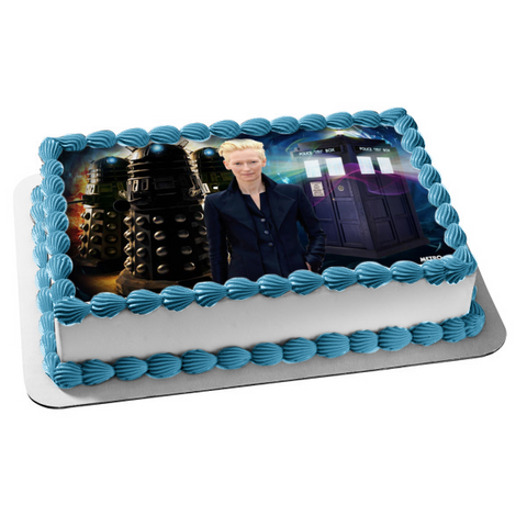 Doctor Who Tardis Tilda Swinton Edible Cake Topper Image ABPID00297