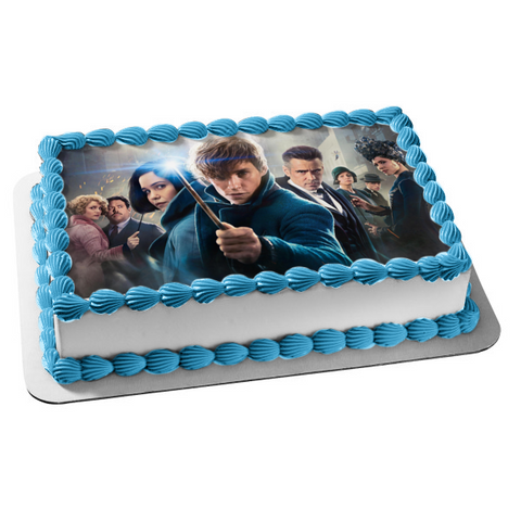 Fantastic Beasts: The Crimes of Grindelwald Wand Movie Cast Edible Cake Topper Image ABPID00033