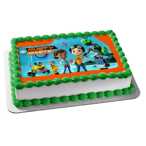 Rusty Rivets Whirly Ruby Ramirez Botasaur Crush Edible Cake Topper Image ABPID08099