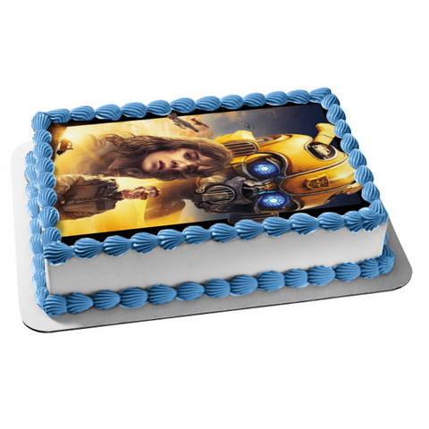 Bumblebee Movie Dropkick and Shatter Edible Cake Topper Image ABPID00808