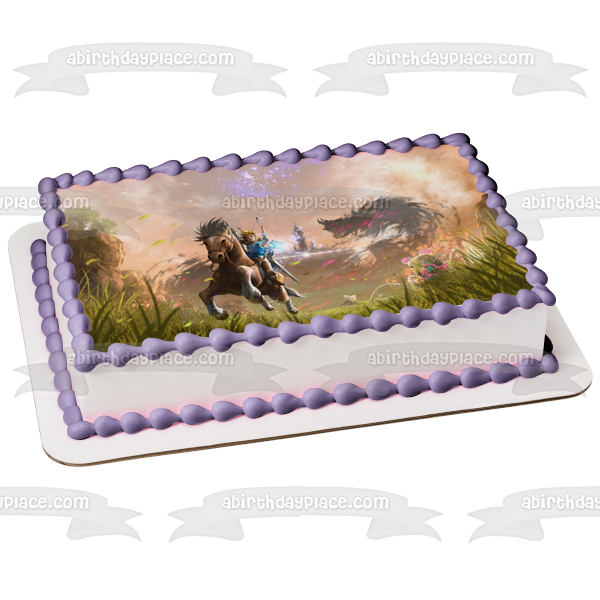 The Legend of Zelda Breath of the Wild Edible Cake Topper Image ABPID00817