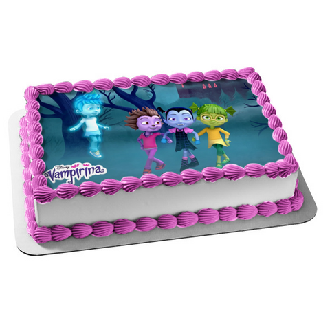 Vampirina Friends Disney Ghoul Girls Edible Cake Topper Image ABPID00837