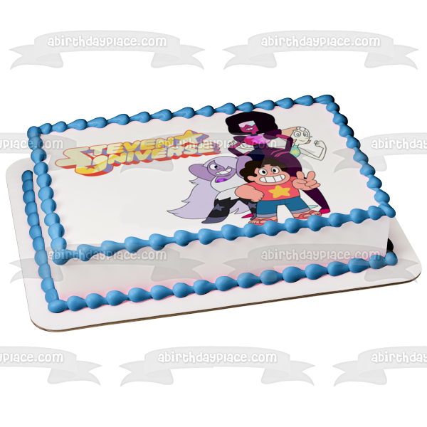 Steven Universe Amethyst Pearl Garnet Edible Cake Topper Image ABPID00839