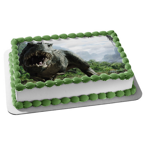 King Kong Grey Dinosaur Trees Clouds Edible Cake Topper Image ABPID08517
