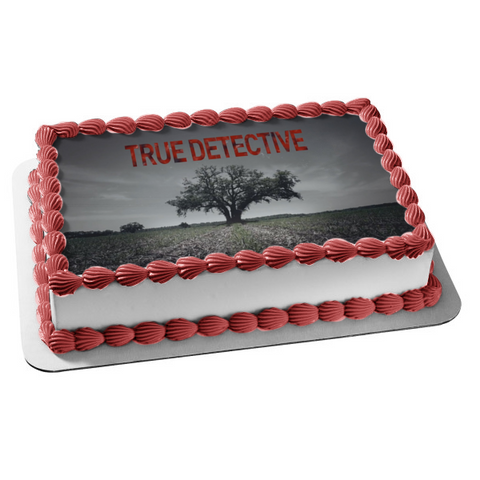 True Detective Field Tree Grey Sky Edible Cake Topper Image ABPID27176