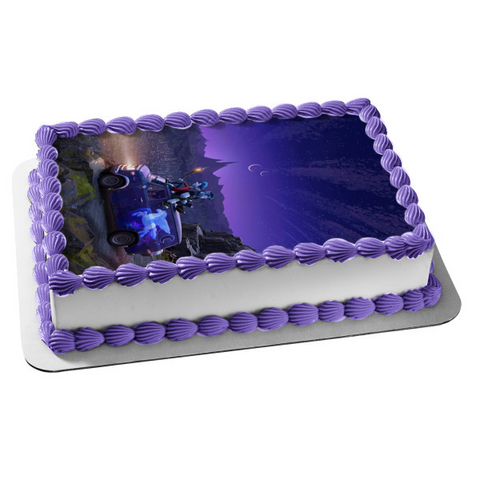 Onward Brothers Ian Lightfoot Barley Lightfoot Purple Van Moon Stars Sky Background Disney Pixar Edible Cake Topper Image ABPID50521