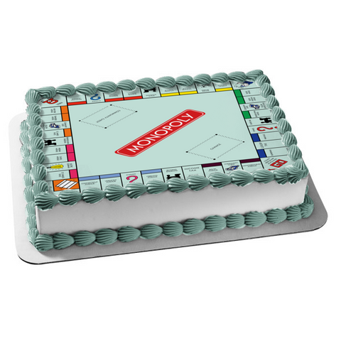 Monopoly Board Game Us Version Edible Cake Topper Image ABPID51061