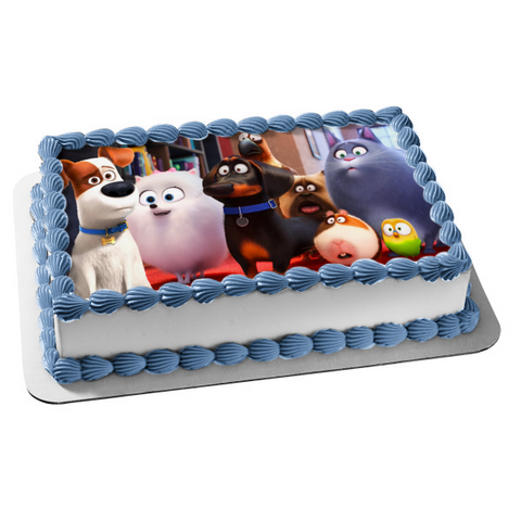 The Secret Life of Pets 2 Chloe Gidget Max Mel Buddy Sweetpea Norman Tiberius Edible Cake Topper Image ABPID51110