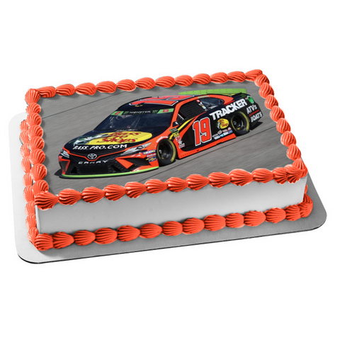 Nascar 2019 Cup Series Martin Truex Jr. 19 Race Track Edible Cake Topper Image ABPID51154