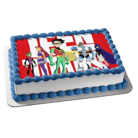 Original Teen Titans Edible Cake Topper Image ABPID51400