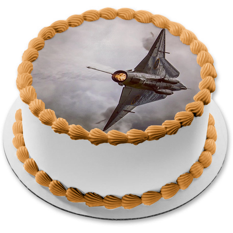 Dassault Mirage In Flight Edible Cake Topper Image ABPID52353
