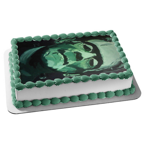 Frankenstein Halloween Boris Karloff Edible Cake Topper Image ABPID50342