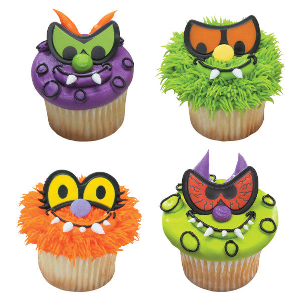 Scary Eyes Cupcake Rings (12ct)