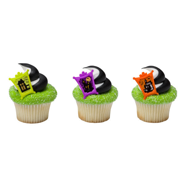 Halloween Haunted House Cupcake Rings (12ct)