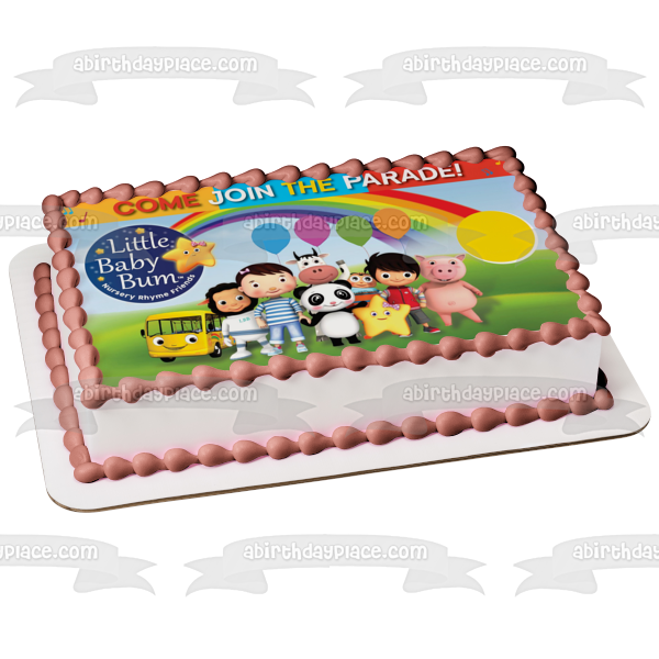 Little Baby Bum Come Join the Parade Jacus Twinkle the Star Yellow Bus Edible Cake Topper Image ABPID22111