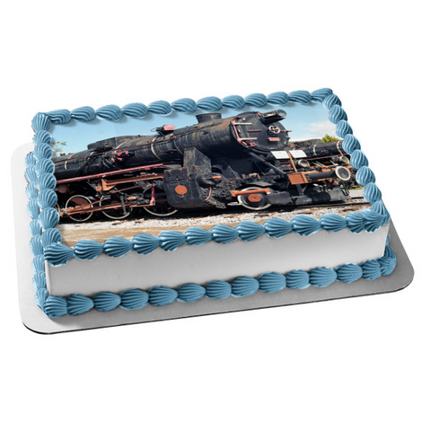 Train on a Track Edible Cake Topper Image ABPID52581