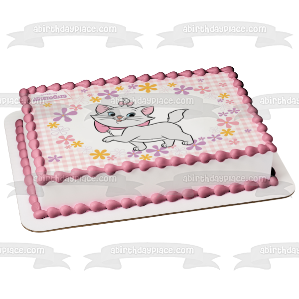 Disney the Aristocats Marie Flowers Edible Cake Topper Image ABPID05785