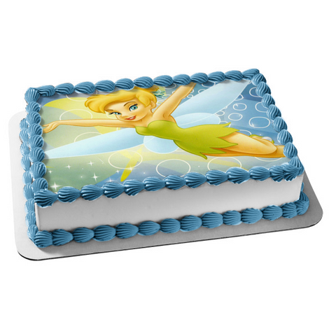 Disney Peter Pan Tinkerbelle Fairy Flying Edible Cake Topper Image ABPID01887