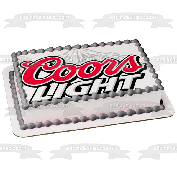 Coors Light Loto White Mountain Edible Cake Topper Image ABPID11382