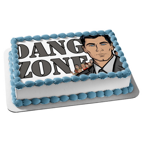 Sterling Archer Danger Zone Lana Kane Edible Cake Topper Image ABPID00924
