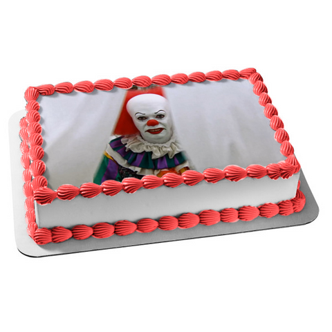 Stephen King It Pennywise Classic Horror Film Edible Cake Topper Image ABPID52787