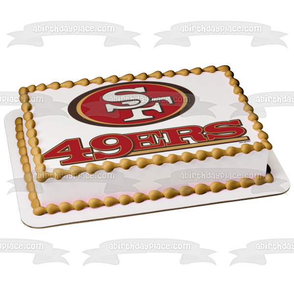San Francisco 49ers Logo NFL Edible Cake Topper Image ABPID05230
