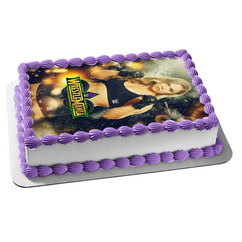 WWE World Wrestling Entertainment Wrestle Mania Rhonda Rousey Edible Cake Topper Image ABPID00952