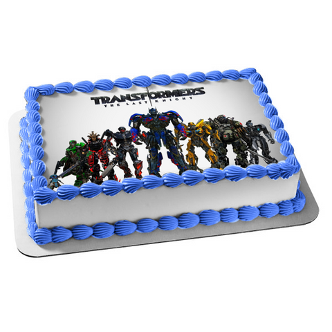 Transformers the Last Knight Megatron Optimus Prime Bumblebee Barricade Hound Edible Cake Topper Image ABPID00963