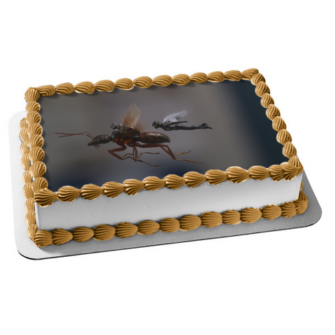 Disney Ant-Man and the Wasp Flying Grey Background Edible Cake Topper Image ABPID01048