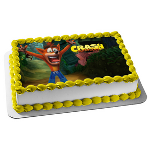 Crash Bandicoot Edible Cake Topper Image ABPID01105