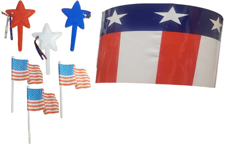 Patriotic Picks and Cake Wrap Set