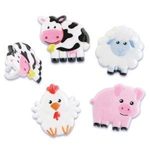 Farm Animals Cupcake Rings (12 pieces)